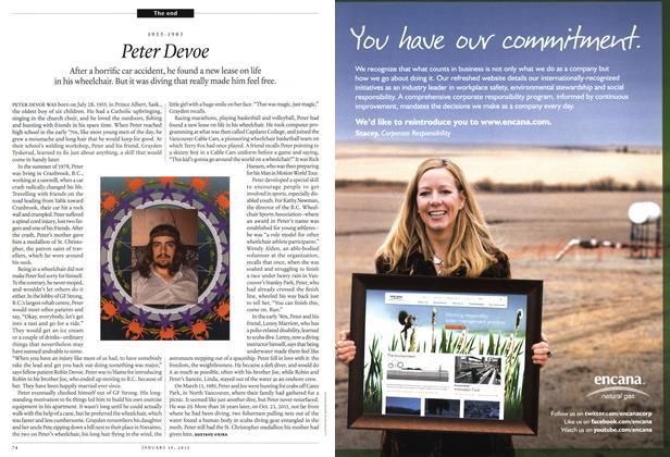 Article Preview: 1955-1985 Peter Devoe, January 2012 | Maclean's