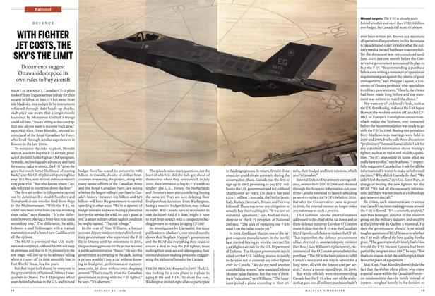 Article Preview: WITH FIGHTER JET COSTS, THE SKY'S THE LIMIT, January 2012 | Maclean's