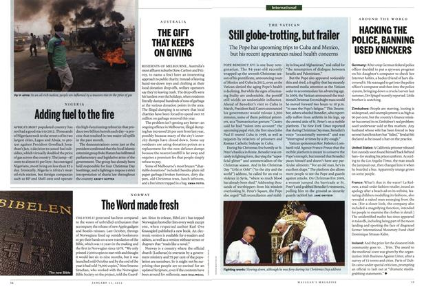 Article Preview: THE GIFT THAT KEEPS ON GIVING, January 2012 | Maclean's