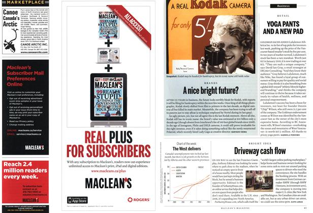 Article Preview: Driveway cash flow, January 2012 | Maclean's