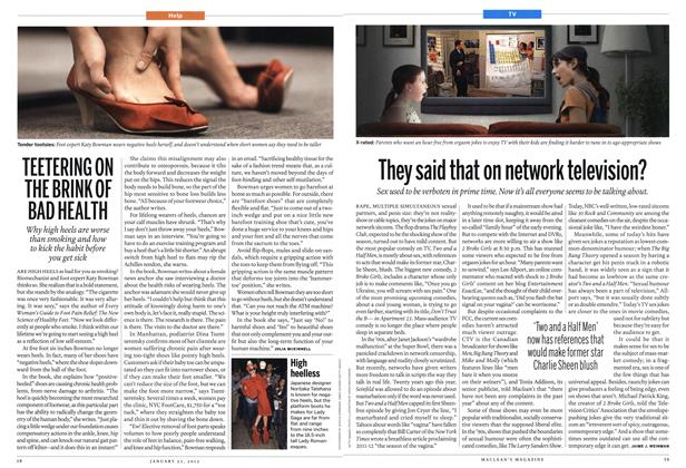 Article Preview: They said that on network television?, January 2012 | Maclean's