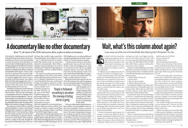 Article Preview: Wait, what's this column about again?, January 2012 | Maclean's