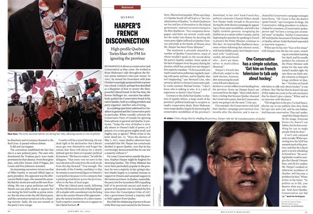 Article Preview: HARPER'S FRENCH DISCONNECTION, January 2012 | Maclean's