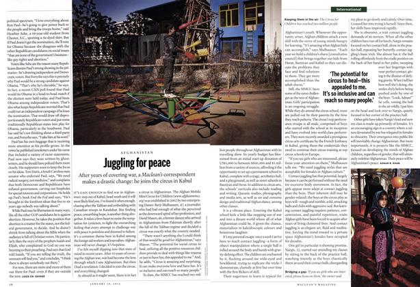 Article Preview: Juggling for peace, January 2012 | Maclean's