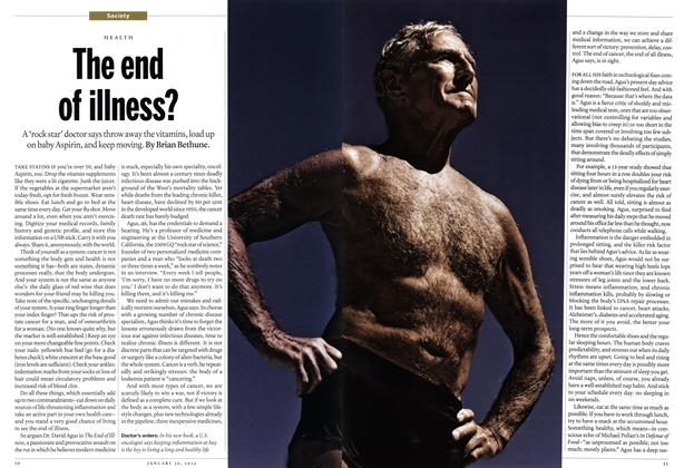 Article Preview: The end of illness?, January 2012 | Maclean's