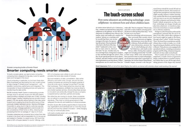 Article Preview: The touch-screen school, January 2012 | Maclean's
