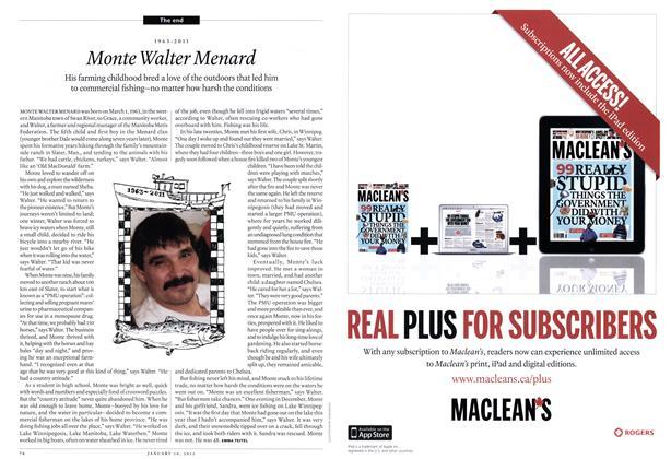 Article Preview: 1963-2011 Monte Walter Menard, January 2012 | Maclean's