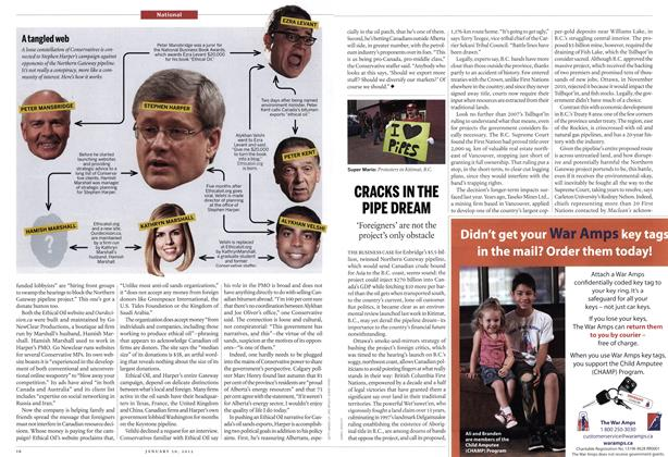 Article Preview: CRACKS IN THE PIPE DREAM, January 2012 | Maclean's