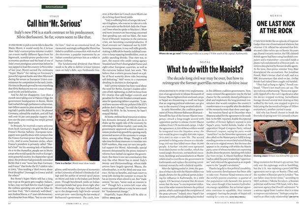Article Preview: What to do with the Maoists?, February 2012 | Maclean's