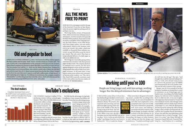 Article Preview: Working until you're 100, February 2012 | Maclean's
