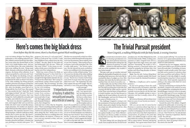 Article Preview: Here's comes the big black dress, February 2012 | Maclean's