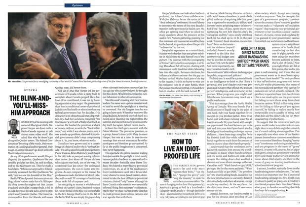 Article Preview: THE BLINK-ANDYOU'LL-MISSHIM APPROACH, February 2012 | Maclean's