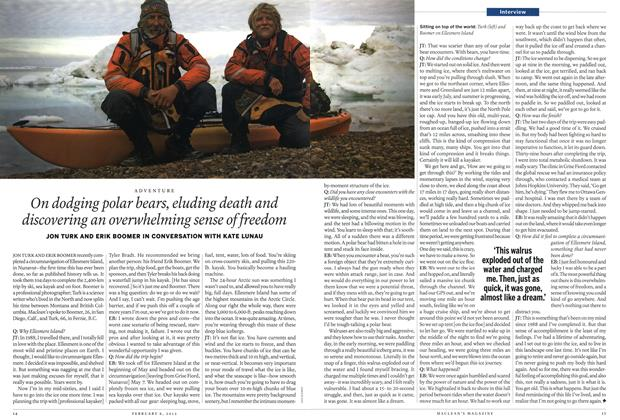 Article Preview: On dodging polar bears, eluding death and discovering an overwhelming sense of freedom, February 2012 | Maclean's