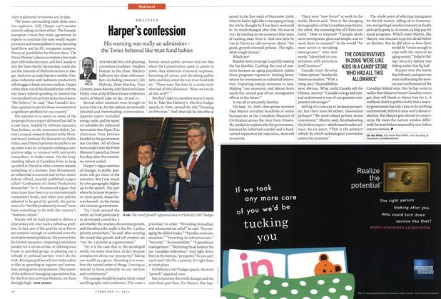 Article Preview: Harper's confession, February 2012 | Maclean's