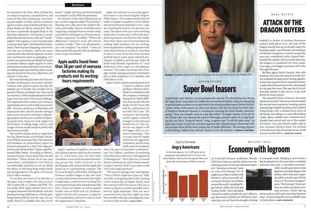 Article Preview: Economy with legroom, February 2012 | Maclean's