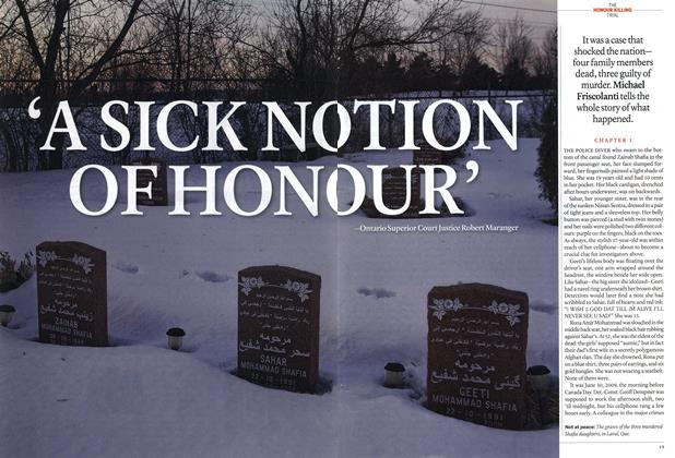 Article Preview: 'A SICK NO TION OF HONOUR', February 2012 | Maclean's