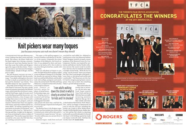 Article Preview: Knit pickers wear many toques, February 2012 | Maclean's