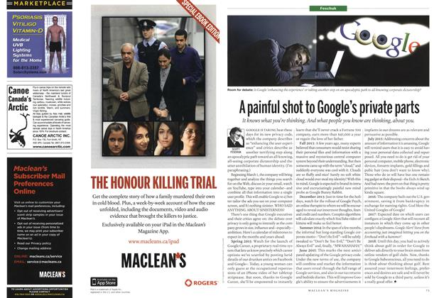 Article Preview: A painful shot to Google's private parts, February 2012 | Maclean's