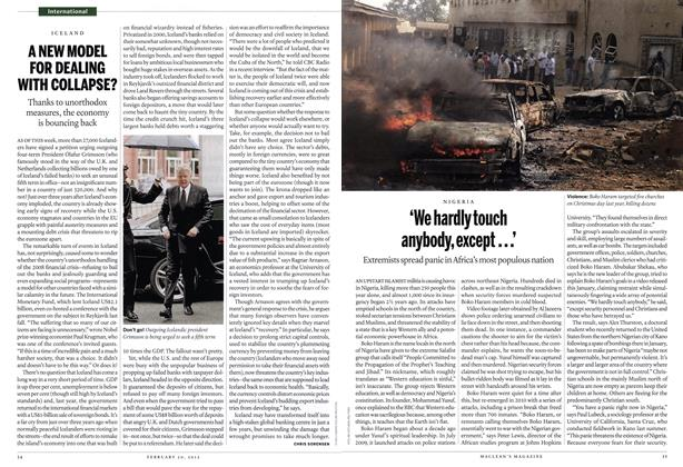 Article Preview: 'We hardly touch anybody, except...', February 2012 | Maclean's