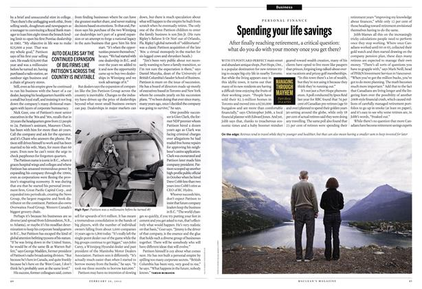 Article Preview: Spending your life savings, February 2012 | Maclean's