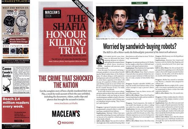Article Preview: Worried by sandwich-buying robots?, February 2012 | Maclean's