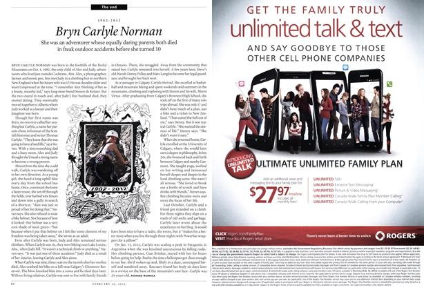Article Preview: 1982-2012 Bryn Carlyle Norman, February 2012 | Maclean's