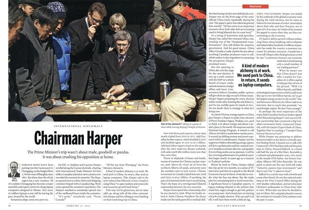 Article Preview: Chairman Harper, February 2012 | Maclean's