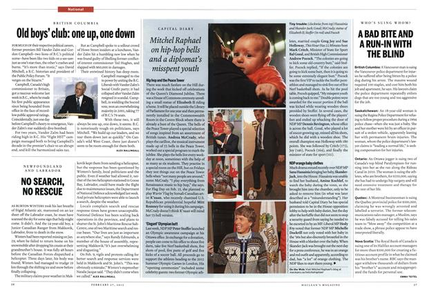 Article Preview: Old boys' club: one up, one down, February 2012 | Maclean's