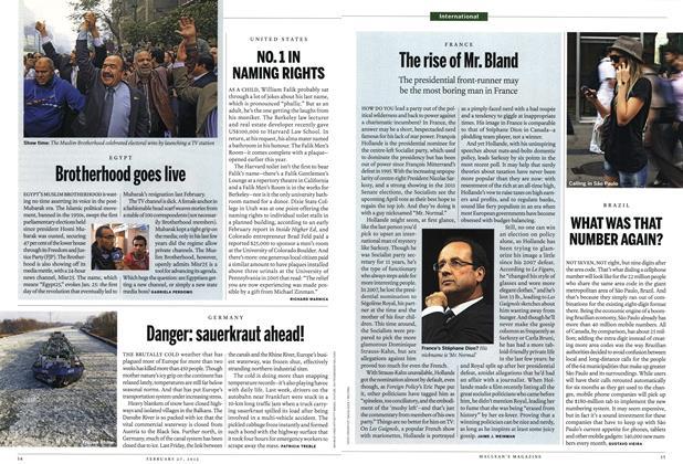 Article Preview: Danger: sauerkraut ahead!, February 2012 | Maclean's