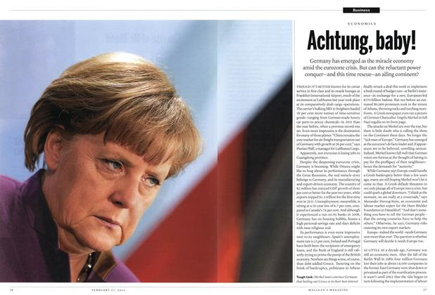 Article Preview: Achtung, baby!, February 2012 | Maclean's