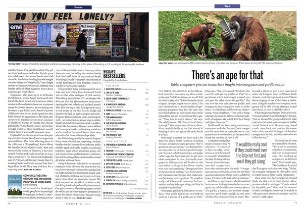Article Preview: There's an ape for that, February 2012 | Maclean's
