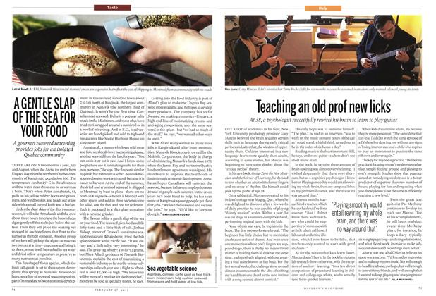 Article Preview: Teaching an old prof new licks, February 2012 | Maclean's