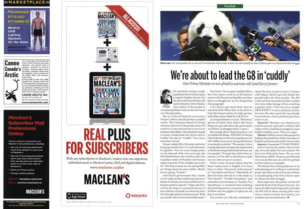 Article Preview: We're about to lead the G8 in 'cuddly', February 2012 | Maclean's