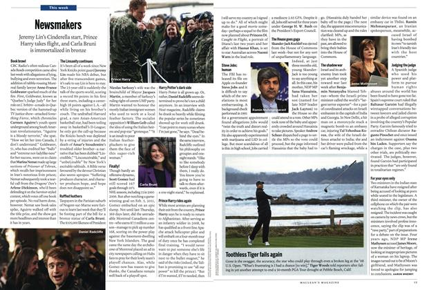Article Preview: Newsmakers, February 2012 | Maclean's