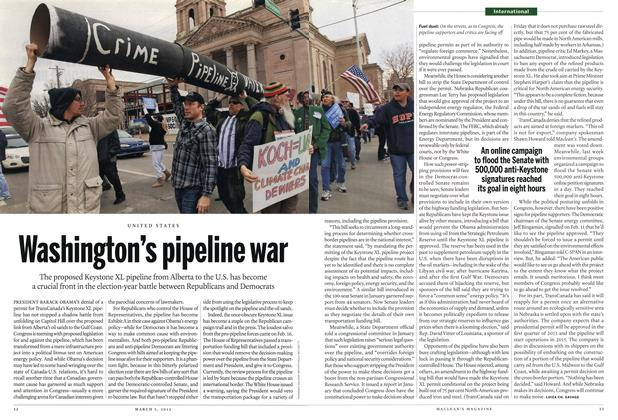 Article Preview: Washington's pipeline war, March 2012 | Maclean's
