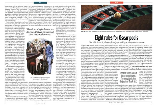 Article Preview: Eight rules for Oscar pools, March 2012 | Maclean's