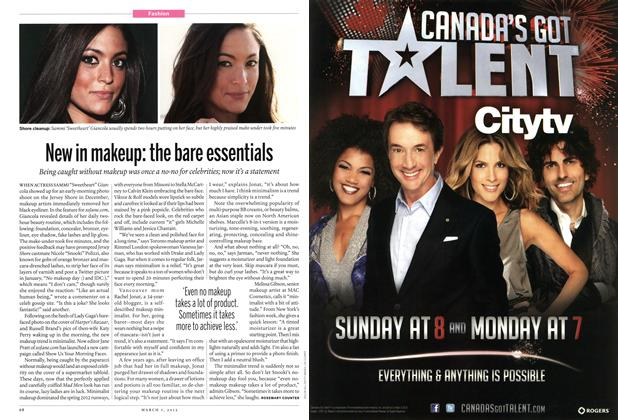 Article Preview: New in makeup: the bare essentials, March 2012 | Maclean's