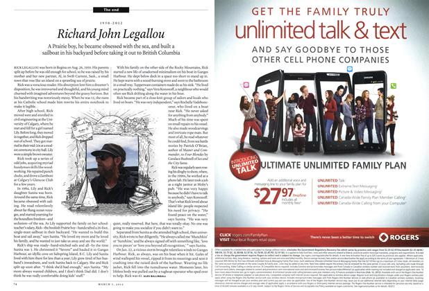 Article Preview: Richard John Legallou, March 2012 | Maclean's