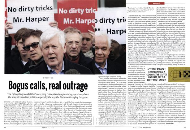 Article Preview: Bogus calls, real outrage, March 2012 | Maclean's