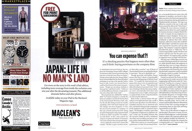 Article Preview: You can expense that?!, March 2012 | Maclean's