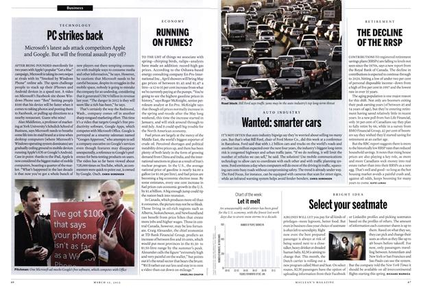 Article Preview: Wanted: smarter cars, March 2012 | Maclean's