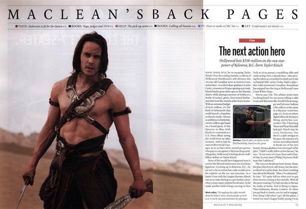 Article Preview: The next action hero, March 2012 | Maclean's