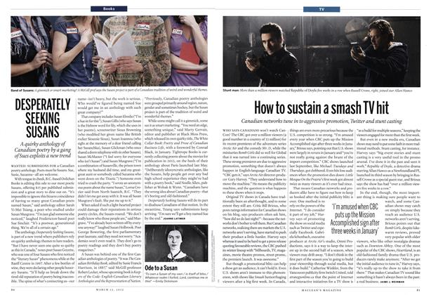 Article Preview: How to sustain a smash TV hit, March 2012 | Maclean's