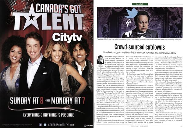 Article Preview: Crowd-sourced cutdowns, March 2012   Maclean's
