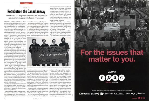 Article Preview: Retribution the Canadian way, March 2012 | Maclean's
