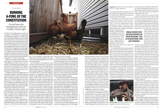 Article Preview: RUNNING A-FOWL OF THE CONSTITUTION, March 2012 | Maclean's