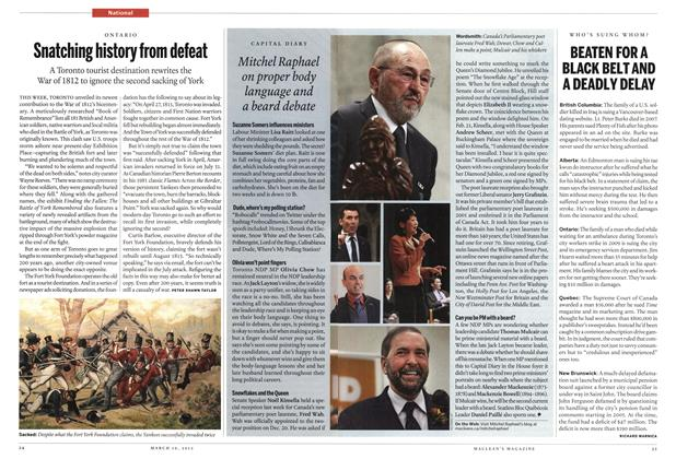 Article Preview: Snatching history from defeat, March 2012 | Maclean's