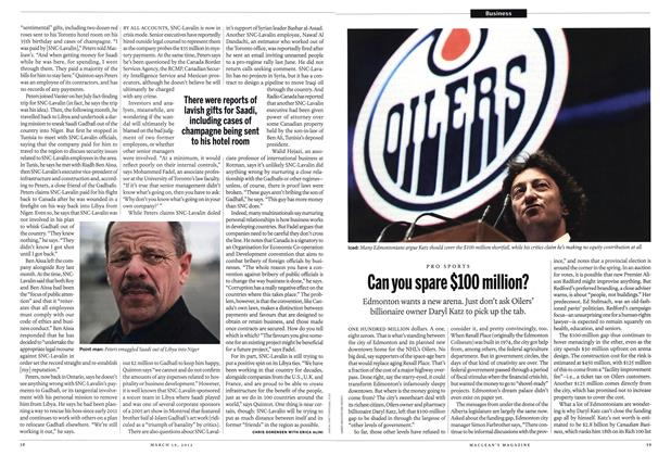 Article Preview: Can you spare $100 million?, March 2012 | Maclean's
