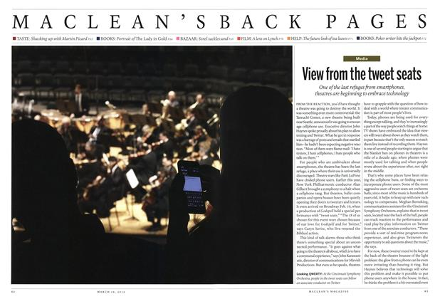Article Preview: View from the tweet seats, March 2012 | Maclean's