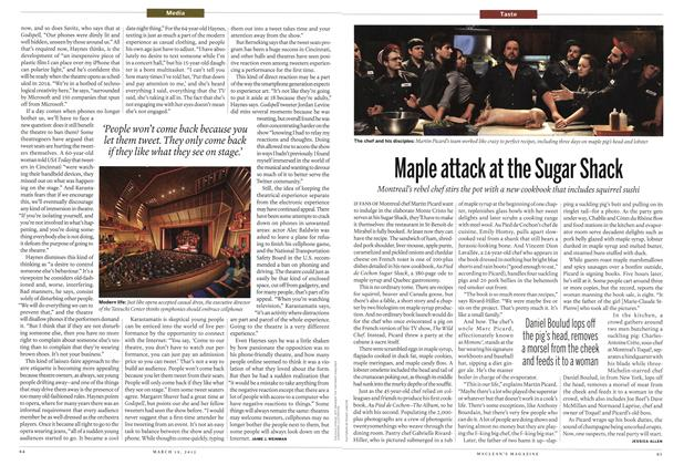 Article Preview: Maple attack at the Sugar Shack, March 2012 | Maclean's